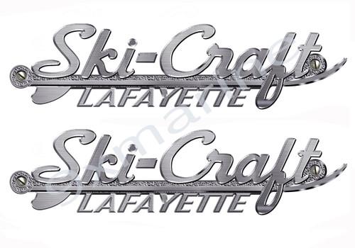 Ski-Craft Metal Brushed Replica Vinyl Decal for Boat Restoration Project