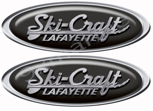 Ski-Craft Oval Classic Vinyl Decal for Boat Restoration Project