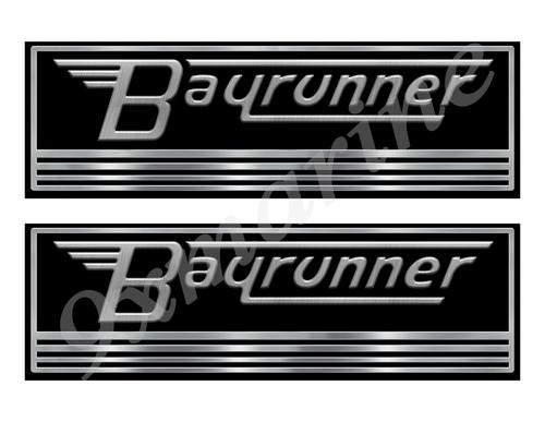 Bay Runner Custom Stickers - 10 inch long set. Remastered Name Plate