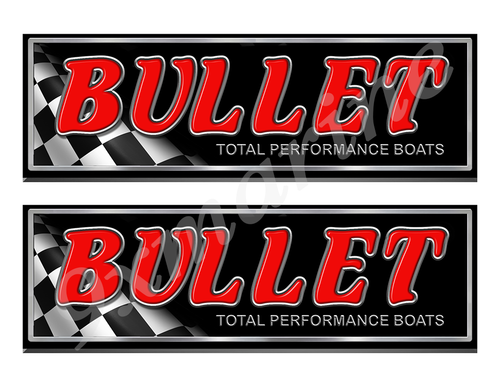 """Bullet Classic Racing 10"""" long Stickers"""