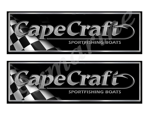 "Cape Craft Classic Racing 10"" long Stickers"