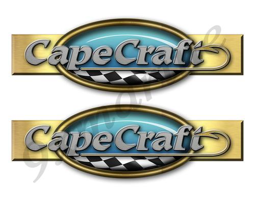 """Two Cape Craft Retro Stickers 10""""x3"""""""