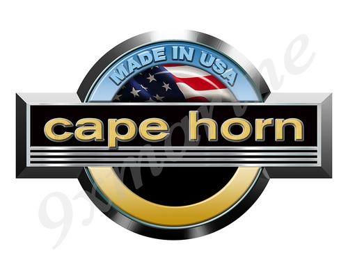 """Single Cape Horn Round Sticker 10""""x6.5"""""""