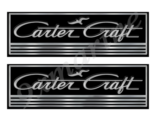 Carter Craft Custom Stickers - 10 inch long set. Remastered Name Plate