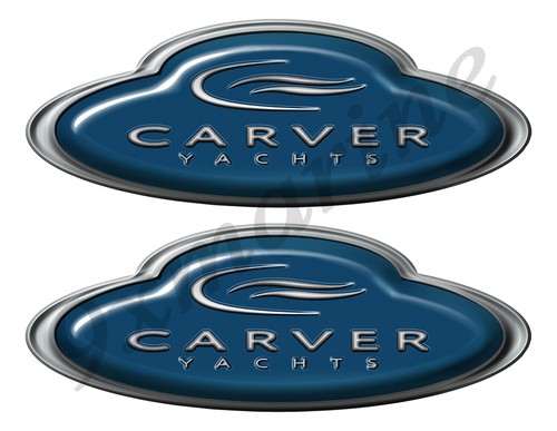 Carver Boat Oval Sticker set - Name Plate