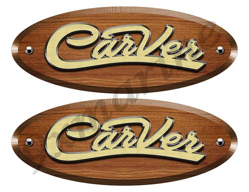 Carver Wood Grain Boat Restoration Sticker set