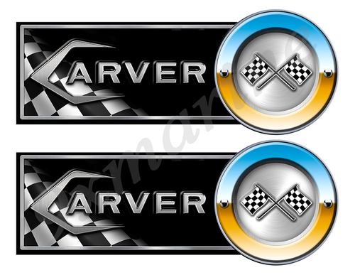 "Carver Classic Racing 10"" long Stickers"
