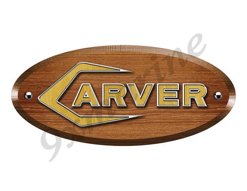 "One Carver Wood Grain Boat Restoration Sticker 10""x4.5"""