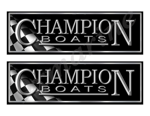 """Champion Classic Racing 10"""" long Stickers"""