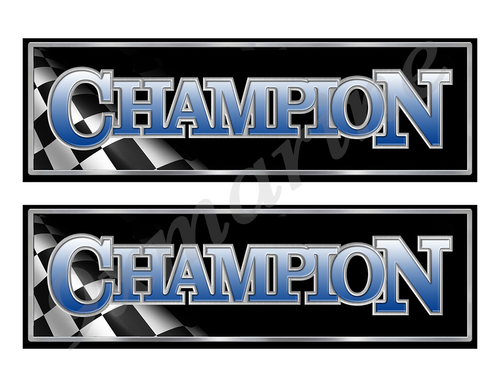 "Champion 90s Classic Racing 10"" long Stickers"