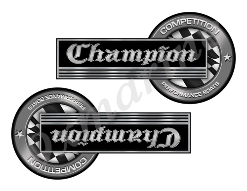 "Champion Classic Competition Stickers 8""x4"""