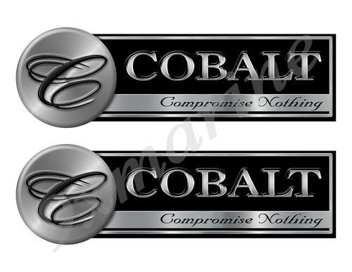 "Two Cobalt Classic Stickers - 10"" long each"