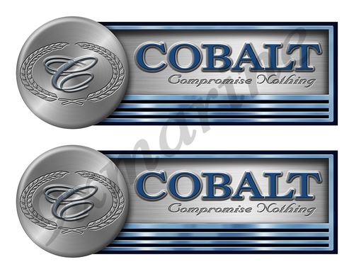 "Two Cobalt Stickers for Boat Restoration - 10"" long each"