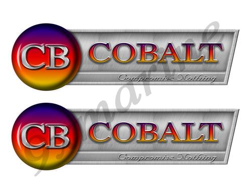 """Cobalt Retro Sticker set - 10""""x3"""". Remastered Name Plate"""