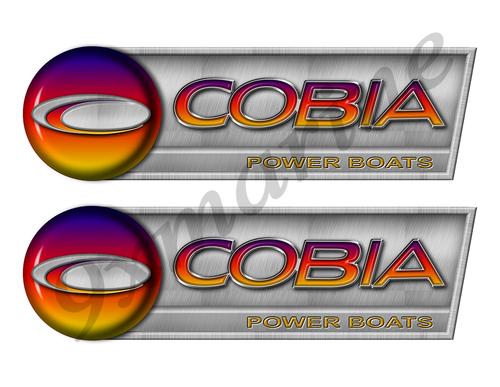 """Cobia Retro Sticker set - 10""""x3"""". Remastered Name Plate"""