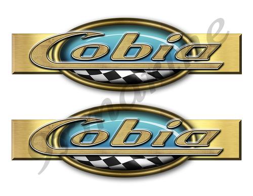 """Two Cobia Retro Stickers 10""""x3"""""""