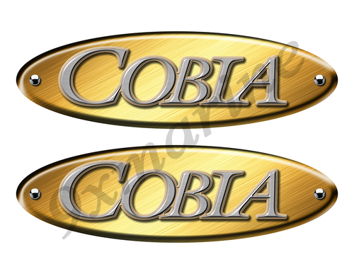 Two Cobia Old Style Oval Stickers for Restoration Project