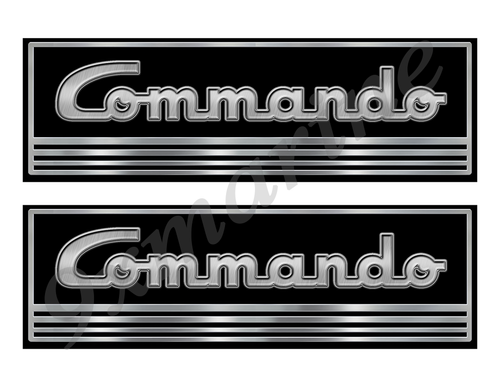 Commando Custom Stickers - 10 inch long set. Remastered Name Plate