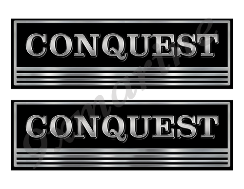 Conquest Custom Stickers - 10 inch long set. Remastered Name Plate