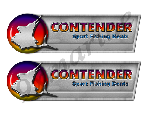 "Contender Retro Sticker set - 10""x3"". Remastered Name Plate"