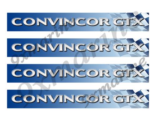 """4 Convincor GTX Vinyl Stickers - 10"""" long each"""