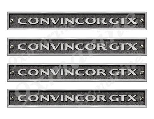 "Four Convincor GTX Stickers - 10"" long set. Replica Name Plate in Vinyl"