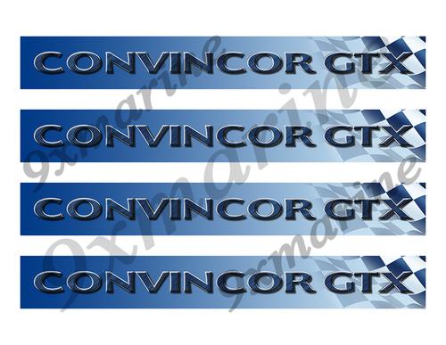 "4 Convincor GTX Vinyl Stickers - 10""x1.5"" each"