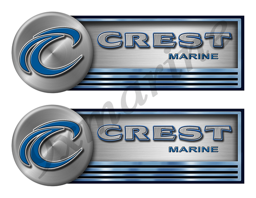 "Two Crest Stickers for Boat Restoration - 10"" long each"