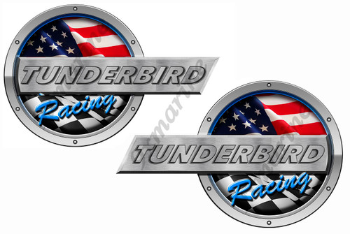 "Two Tunderbird Boat Designer Stickers 16""x10"" each"
