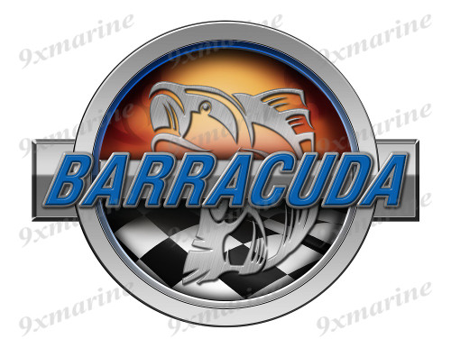 Barracuda Racing Boat Round Sticker - Name Plate