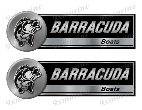 "Two Barracuda Classic Stickers - 10"" long each"
