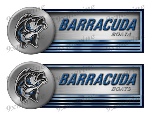 "Two Barracuda Stickers for Boat Restoration - 10"" long each"