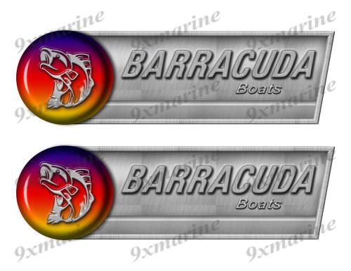 """Barracuda Retro Sticker set - 10""""x3"""". Remastered Name Plate"""