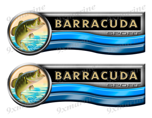 Barracuda Sticker set for Boat Restoration Project