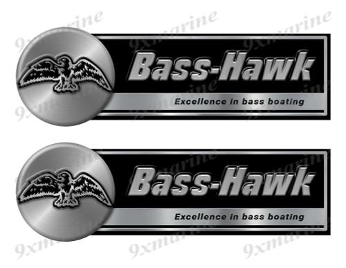 "Two Bass Hawk Classic Stickers - 10"" long each"