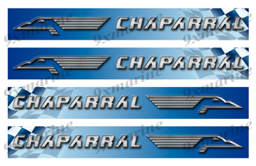 "4 Chaparral Vinyl Stickers - 16""x2"" each"