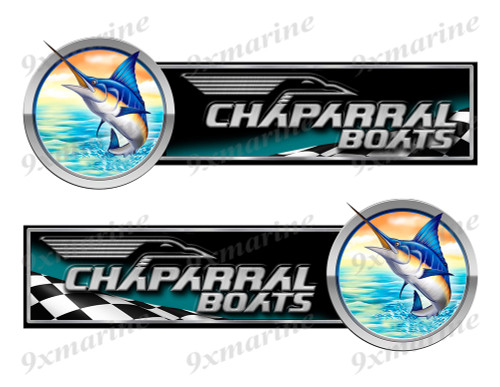 2 Chaparral Boat Marlin Racing Type Stickers