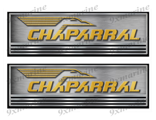 Two Chaparral Boat Stickers. Not OEM