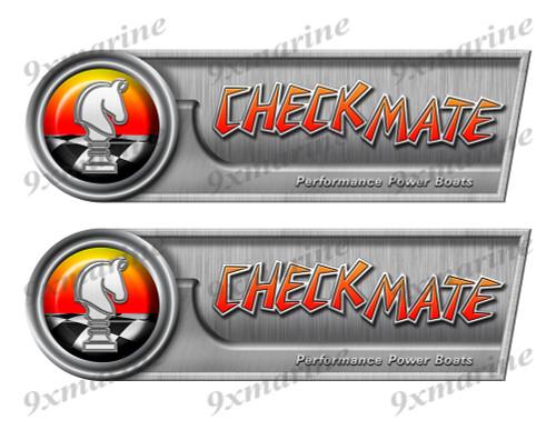 "Checkmate Retro Sticker set - 10""x3"". Remastered Name Plate"