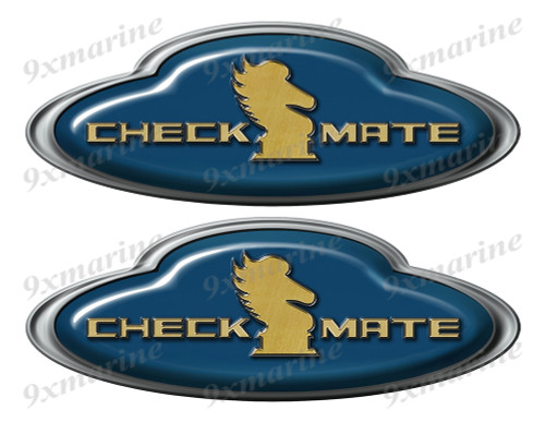 Checkmate Boat Oval Sticker set - Name Plate