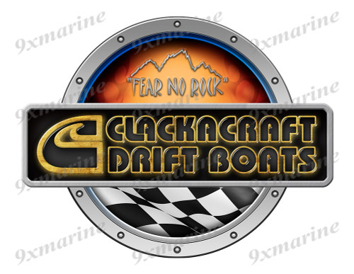 Clackacraft Racing Boat Round Sticker - Name Plate