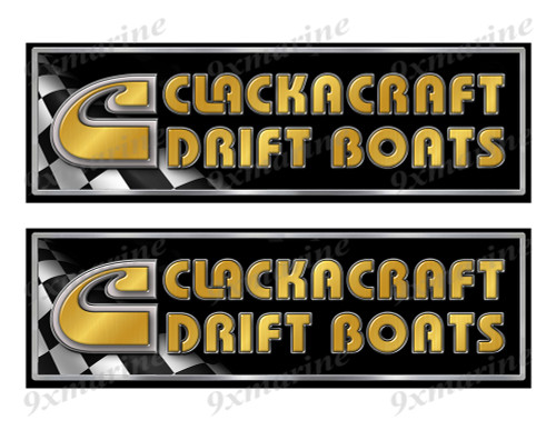 "Clackacraft Classic Racing 10"" long Stickers"