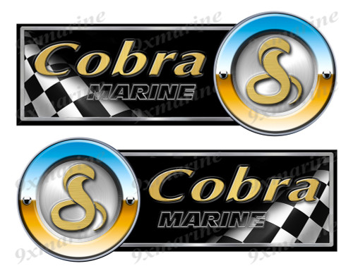 "Cobra by Viper Racing Stickers - 10"" long"