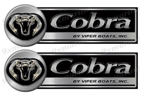 "Two Big Cobra Classic Stickers - 16"" long each"