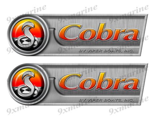 "Cobra Retro Sticker set - 10""x3"". Remastered Name Plate"