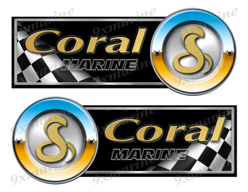 "Coral by Viper Racing Stickers - 10"" long"