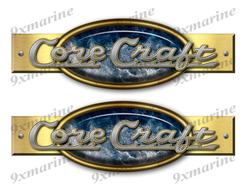 "Two Core Craft Retro Stickers 10""x3"""