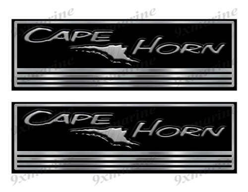 Cape Horn Custom Stickers - 10 inch long set. Remastered Name Plate