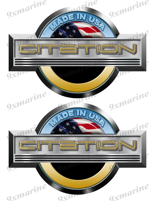Citation Stickers for Boat Restoration. 7.5 inch long each