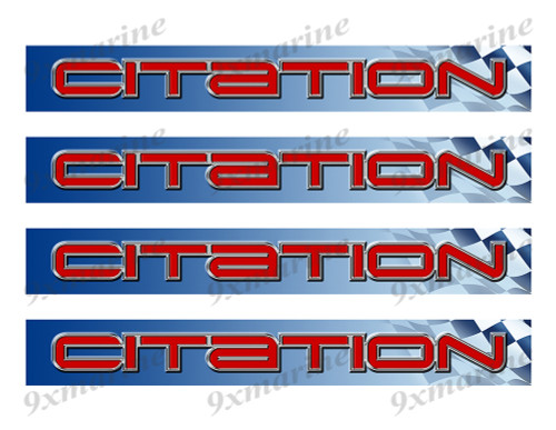 "4 Citation 80s Vinyl Stickers - 10""x1.5"" each"